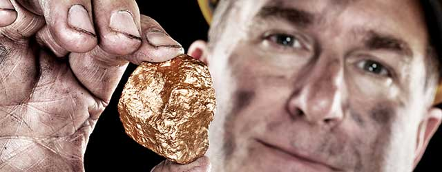 Miner With Gold